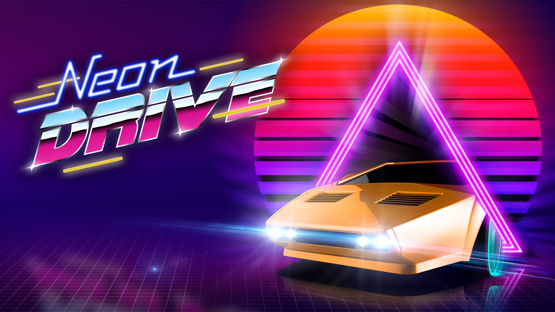 Neon Race  Car Games