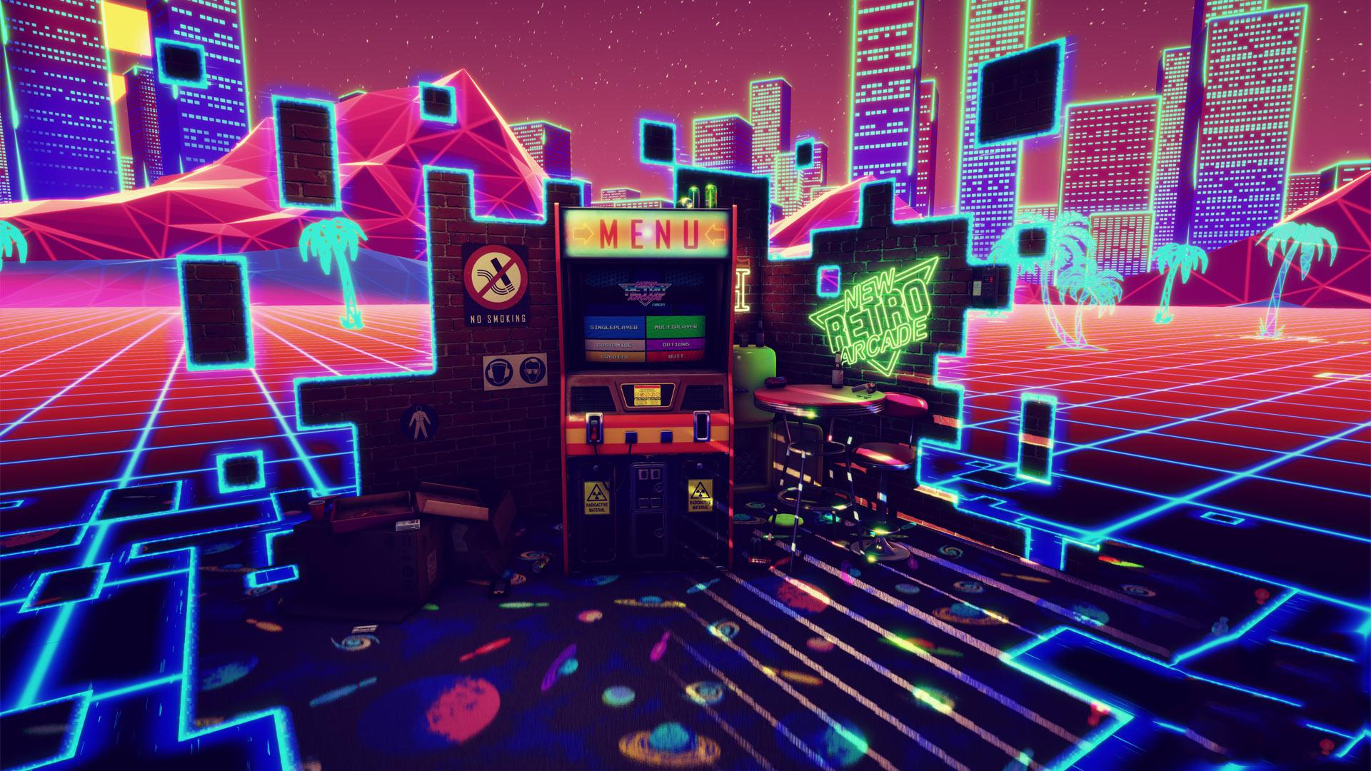 Games Artwoks Retro Synthwave